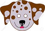 528479-spotty-dalmation-dog-cutout-mask-for-kids-to-wear-Stock-Photo