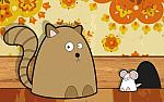 Drawn wallpapers Cats and mouses 020348
