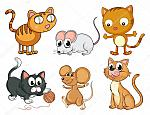 depositphotos 20806675-stock-illustration-cats-and-mice